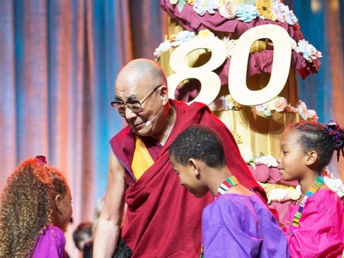 HHDL80 with youth